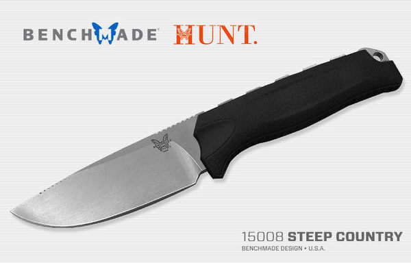 BENCHMADE STEEP COUNTRY 狩獵直刀 / 黑色膠柄-#BENCH 15008-BLK