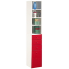 【藝匠】紅色 (大)細縫櫃 收納櫃 家具 組合櫃 廚具 收藏  置物櫃 櫃子 小櫃子
