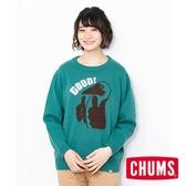 CHUMS 日本 女 Cyclone 圓領套頭衫 綠 CH121086M001