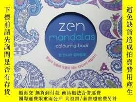 二手書博民逛書店韓文原版罕見ZEN MANDALAS COLOURING BOO
