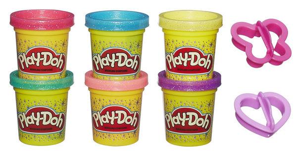 Play-Doh 培樂多 黏土 閃亮黏土 六色黏土組 TOYeGO 玩具e哥