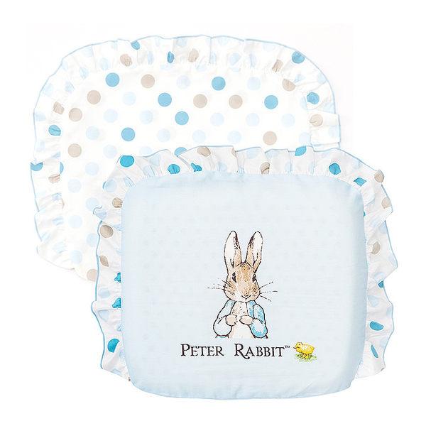 奇哥 花園比得兔 乳膠圓型枕/枕頭(附枕頭套)(藍色)