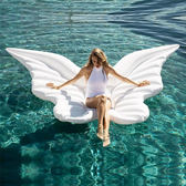 天使翅膀充氣浮床蝴蝶浮排天使之翼水上游泳圈氣墊婚紗照攝影道具  自由角落