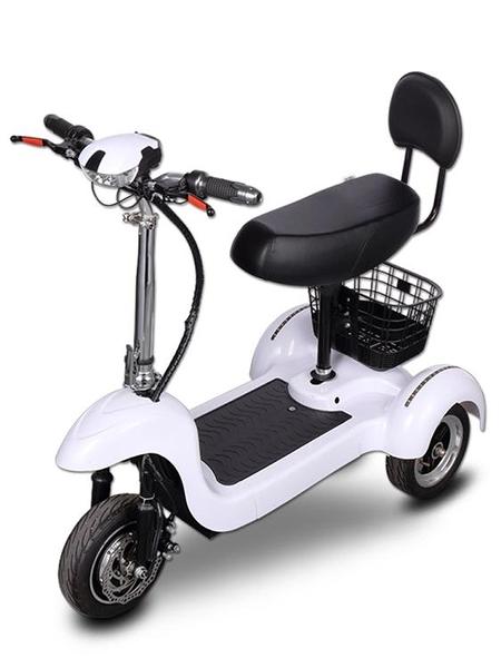 網紅迷你電動三輪車成人摺疊電瓶車鋰電池女性代步車接送孩子家用14ATF 探索先鋒
