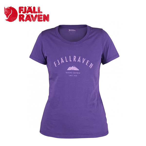 瑞典 Fjallraven 小狐狸 Trekking Equipment T-Shirt W 有機棉T 女款 深紫 #89617