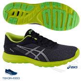 ASICS亞瑟士 男慢跑鞋 Nitrofuze (黑綠) 緩衝款跑鞋 T6H3N-9593【 胖媛的店 】