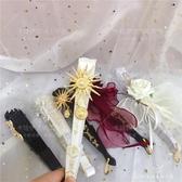 手作蕾絲扇子折扇拍照道具