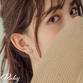 耳環 RCha。韓‧小巧花朵貼耳耳環-Ruby s 露比午茶