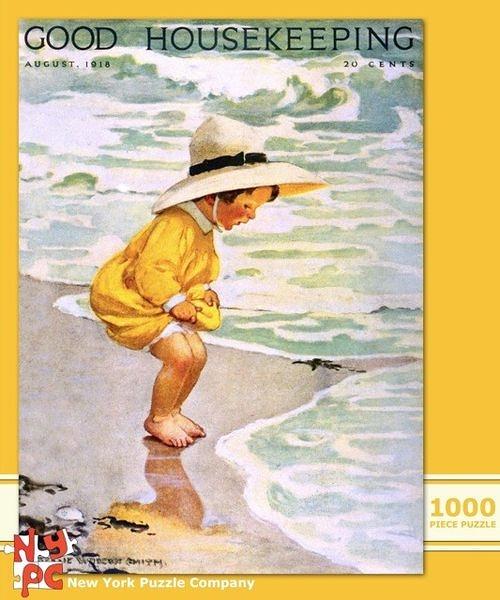 【美國 The New Yorker 】盒裝拼圖-First Time at the Beach(1000片)