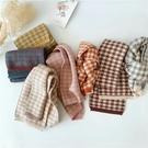 韓國同款拼色格子兒童針織圍巾秋冬男女童寶寶毛線圍脖 童趣屋
