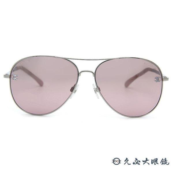 CHANEL 香奈兒 太陽眼鏡 4189TQ (銀) 飛官款 淺水銀 墨鏡 久必大眼鏡