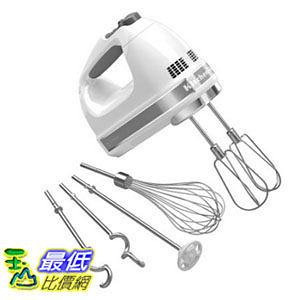 [美國直購] KitchenAid 攪拌機 白色款 KHM926WH 9-Speed Digital Hand Mixer Whisk - White