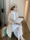 蕾絲洋裝 蕾絲洋裝女裝秋冬2019年新款寬鬆氣質白色長袖內搭裙子打底長裙 免運費