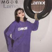 韓版字母印花學生長袖T恤