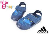 ADIDAS涼鞋 童 聯名限量 多莉 護趾涼鞋I6624#藍◆OSOME奧森鞋業