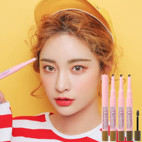 韓國3CE(3CONCEPT EYES) STUDIO雙頭三角眉筆&定型染眉膏(0.25g+3g) 3款可選【小三美日】