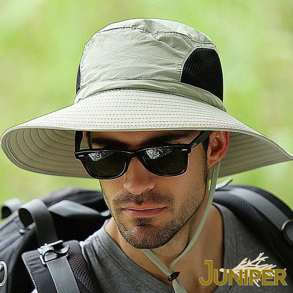 防曬帽子-大帽眉檐防UV紫外線防潑水遮陽漁夫帽J7557A JUNIPER朱尼博