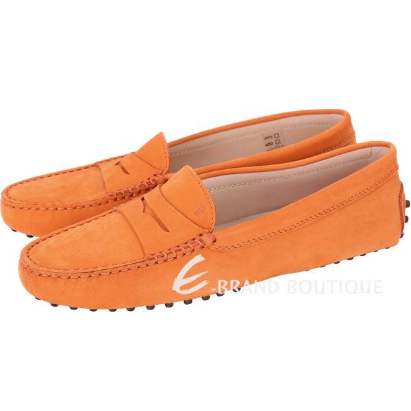 TOD'S Gommino Driving 麂皮豆豆休閒鞋(女鞋/橘色) 1430193-25