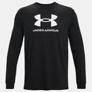 Under Armour UA Sportstyle Logo 男裝 長袖 訓練 休閒 棉質 黑【運動世界】1362743-001