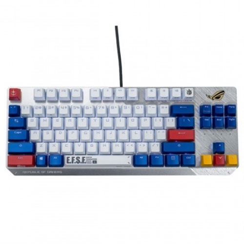 ASUS 華碩x鋼彈 ROG SCOPE TKL GUNDAM 限量 電競鍵盤 白 青軸中文 90MP0292-BKTA00 門市同步販售限量賣完為止