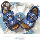 男童鞋 台灣製騎士龍戰隊動漫正版閃燈涼鞋 電燈鞋 魔法Baby