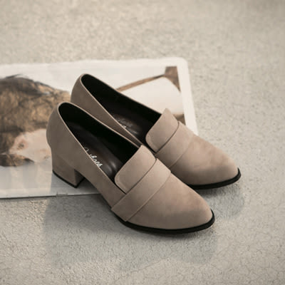 跟鞋.復古女伶絨質高跟包鞋-FM時尚美鞋-訂製款.Ciao
