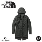【The North Face 女 長版DryVent防水外套《黑》】3VU4/防水外套/長版外套/休閒外套