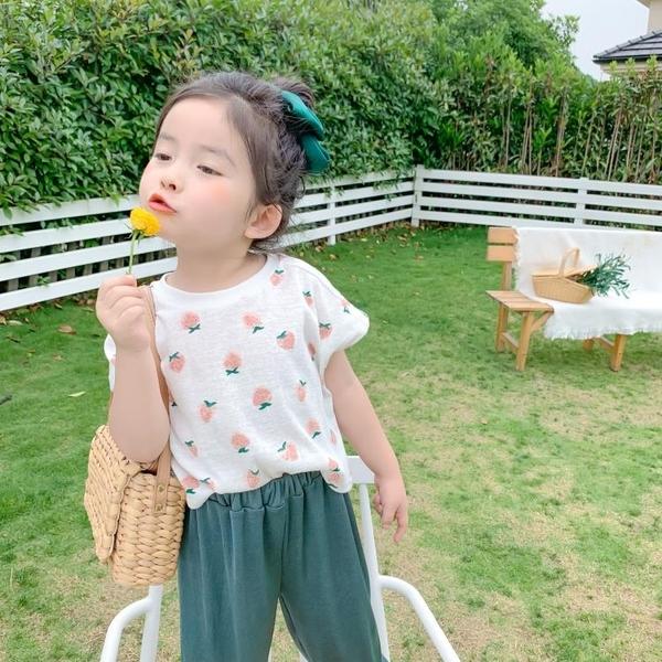 女童夏裝2021新款嬰兒童純棉短袖T恤小寶寶洋氣半袖夏季韓版上衣 茱莉亞
