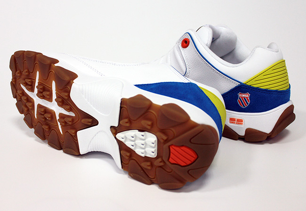 K-SWISS ST529 LE 時尚運動鞋/老爹鞋-女-白/藍/橘