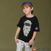 男童短袖t恤夏裝兒童印花純棉t男寶寶中大童T恤圓領汗衫【淘夢屋】