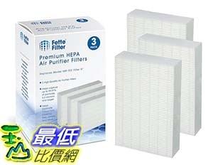 [9美國直購] 和Honeywell 相容型濾網 HEPA Replacement Filter Pack Compatible with Filter R HRF-R3 (Pack of 3)