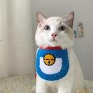 韓版IG寵物貓狗狗口水巾小型犬可愛貓咪三角巾圍脖圍嘴圍兜【小狮子】