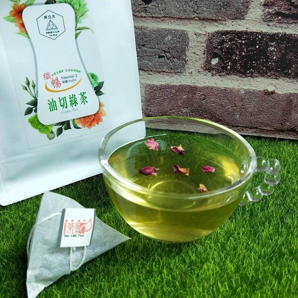 纖暢玫瑰油切綠茶 去油解膩 三角立體茶包 (9gx12入)