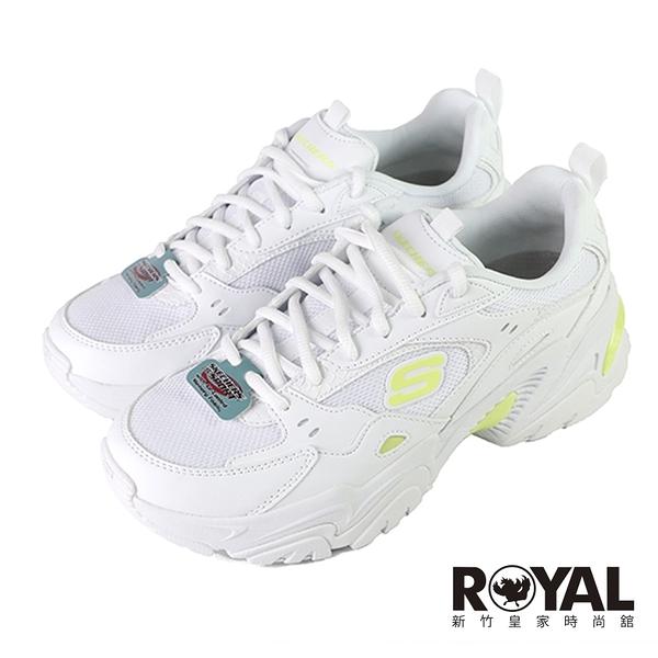 Skechers Stamina 白色 皮質 休閒運動鞋 女款 NO.J0668【新竹皇家 149510WLM】