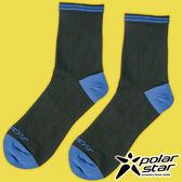 PolarStar 中性排汗中筒襪『黑』P17523 露營.戶外.登山.排汗襪.彈性襪.紳士襪.休閒襪.長筒襪.襪子