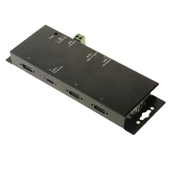 [9美國直購] Coolgear USB-C 4孔集線器 w/Power Delivery and 15KV ESD Surge Protection USB 3.1 Gen1