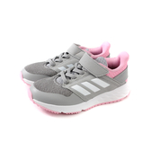 adidas FortaFaito EL K 運動鞋 慢跑鞋 灰/粉 童鞋 F36105 no684