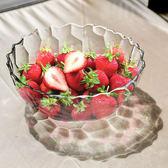 家用大號水果盤水晶玻璃糖果鬥沙拉碗簡約現代客廳歐式創意果盤台北日光