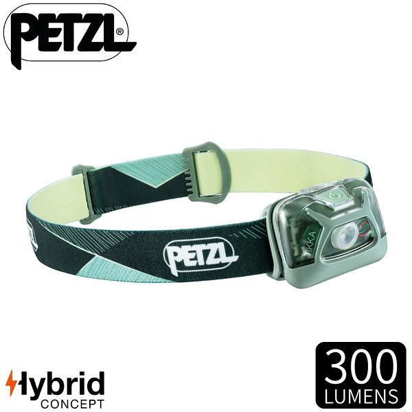 【PETZL 法國 TIKKA頭燈《綠》】E093FA02/300流明/頭燈/登山露營/手電筒/緊急照明