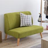 布沙發 沙發椅 收納【收納屋】日式簡約亞麻雙人沙發-綠色&DIY組合傢俱