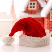 聖誕老人帽兒童長毛絨帽成人兒童短頭飾活動派對裝飾聖誕節成帽 聖誕節鉅惠