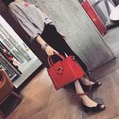 結婚包包新款潮小ck大容量百搭手提斜挎包女包時尚紅色新娘包 中秋節全館免運