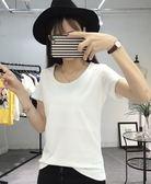 現貨不退換白色XL短袖休閒T恤上衣中大尺碼14550/夏裝純色打底衫上衣T恤皇潮天下