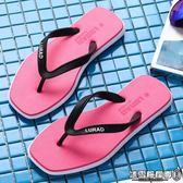 人字拖女平底夏季 防滑沙灘鞋夾腳涼拖時尚外穿海邊拖鞋潮