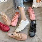 學生雨鞋女短筒春秋雨靴可愛防水小白鞋防滑平底休閒水鞋膠鞋 京都3C