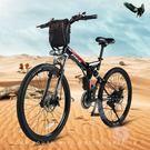 機車 摺疊電動車自行車 鋰電池助力山地車...