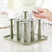 家用塑料杯架杯托玻璃杯瀝水架廚房杯子架水杯掛架杯子收納架子 雙11大促