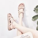 夏季鞋子新款涼鞋女平底仙女風厚底防滑羅馬沙灘鞋網紅ins潮百搭