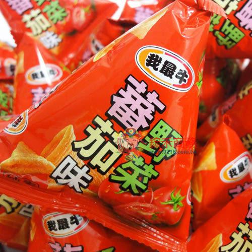 我最牛-野菜蕃茄牛角酥-300g【0216零食團購】G084-0.5