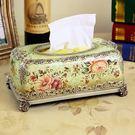 高檔樹脂雕花歐式紙巾盒...